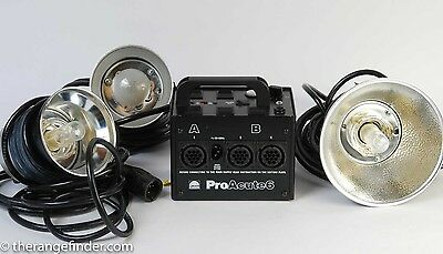 Profoto Acute 6 Power Pack & 3 Flash Heads