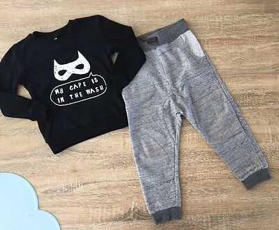 Toddler Boys Size 3 Bundle GUC Trackies And Jumper