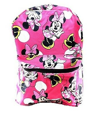 Assorted Girl's Disney Allover Sweety Minnie Mouse 16 Inch school backpack