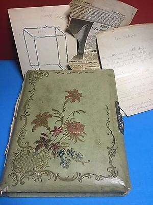 Antique Photo Album With 25 Antique Photos Including Cabinet ,cdv,and 1 Tin Type