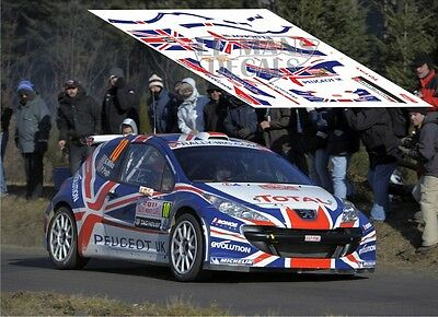 Calcas Peugeot 207 S2000 Rally Montecarlo 2011 10 1:32 1:43 1:24 1:18 slot decal