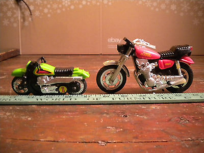 2 old Vtg toy Power Blasters 1100 Motorcycles bike plastic cycles