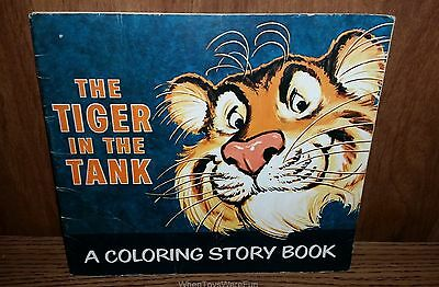 1960s ESSO Tiger in the Tank Coloring Story Book Promo Giveaway Exxon Oil Humble