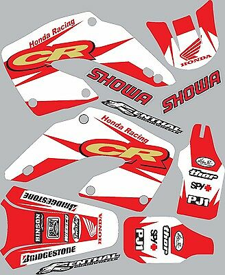 2000-2001 Honda CR125 CR 250 125 shrouds fender plastic Graphics Decal Stickers