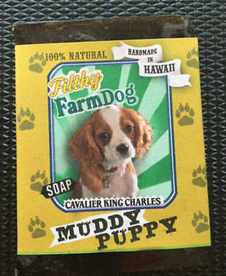Cavalier King Charles / Bar of Dog Soap / Fun Graphics Unique Gift  All Natural