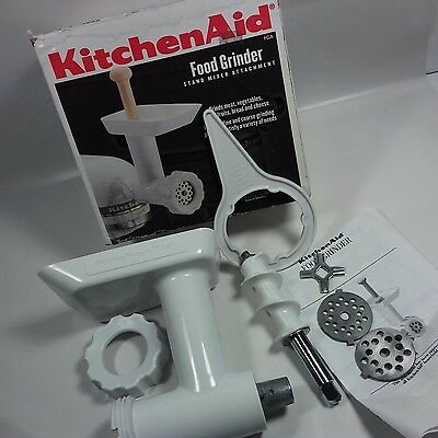 VINTAGE KitchenAid Stand Mixer FGA Food Grinder Attachment +box USA MADE-UNUSED!