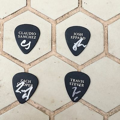 coheed and cambria Signed Guitar Picks