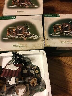 "Dept 56 General Village ""the Woodshed & Chopping Block"" - #52895 - New In Box"