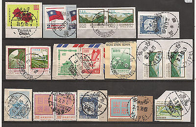 China / Taiwan. Mixture. Scan Of Postmark Used Stamps