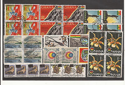 Ghana. Mixture Scan Of Used Stamps