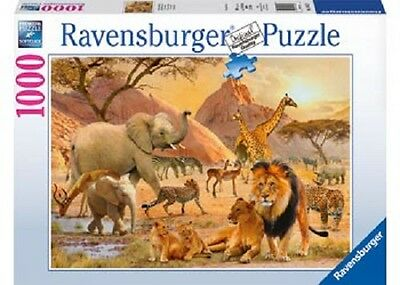 Ravensburger 1,000 Piece Jigsaw Puzzle - African Animal Crowd