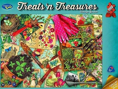 Holdson 1,000 Piece Jigsaw Puzzle - Treats 'N Treasures: Vintage Garden