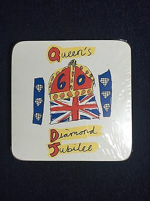Queen's 60th Diamond Jubilee Coaster Set Sealed