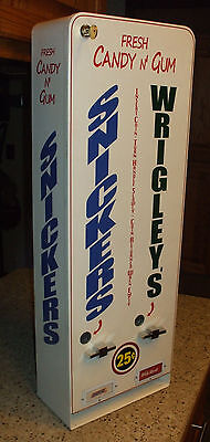 twin column wrigley's chewing gum & snickers candy bar  vending machine