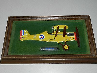 VTG INTERCRAFT MCM S.E Sa SCOUT AIRPLANE 8740 FRAMED SHADOW BOX PICTURE AIRCRAFT
