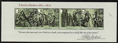 Great Britain 2012 Recent Used #3043 Chas Dickens Souvenir Sheet VF (Sc $7.75 )