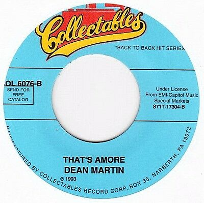 """Dean Martin - That's Amore / Memories Are Made Of This - 7"""" US Vinyl 45 - New"""