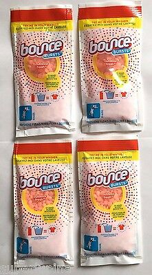 4 BOUNCE BURST In-Wash OUTDOOR FRESH Booster Single Load Packets Try Size Travel