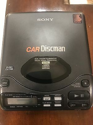 Sony Discman D-808K With Car Accessories, Power Supply, CPM-M3 Dash Mount. Parts