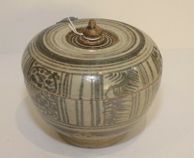 Bowl With Lid Vietnamese 14/15Th Century Stoneware