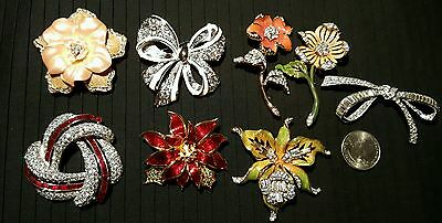 Gorgeous Collection of 8 Nolan Miller Pins Brooches MINT
