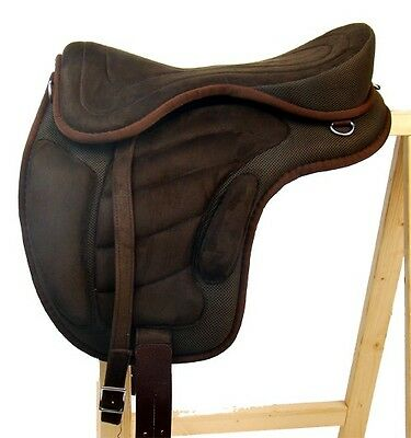 "Treeless Saddle Horse Trekking ""LIBERTÀ"" Brown Nuovi accessori"