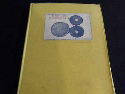 Vietnam French Indo-China 24 Coin set in small Yellow Presentation Folder