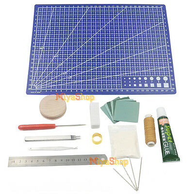 Set Hand Stitching Sewing Tool Leathercraft Basic Accessories Kit DIY Crafts