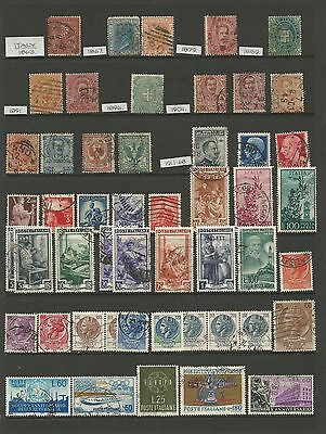 X/09 COLLECTION WORLD STAMPS  ITALY 2 pages 2 scans