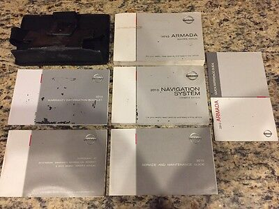 2010 Nissan Armada Owners Manual Set With Case & Navigation Supplement OEM LQQK!