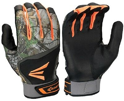 1 Pair Easton HS7 Real Tree Adult Large Batting Gloves Black / RealTree A121772
