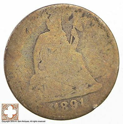1891 Seated Liberty Silver Dime *2682