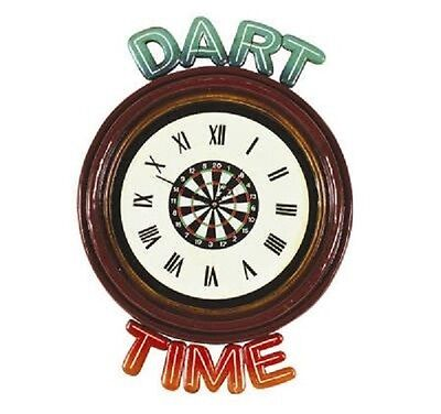 Ram R208 Wooden Dart Time Pub Clock 3D Art with FREE shipping