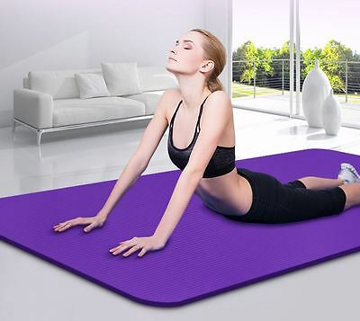 10MM/8MM Yoga Mat Gym Exercise Extra Thick Non-slip Cushion Fitness Pilates Soft