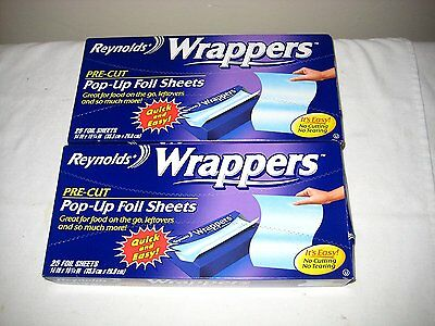 Reynolds Wrappers Pop Up / Foil Sheets 2 Pack No cutting or Tearing