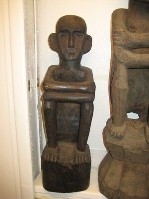 """The Badillo Museum Collection 19th Century Luzon """"Sitting Bulul Grainery God"""""""
