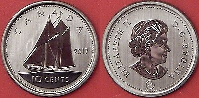 Specimen 2017 Canada 10 Cents From Mint's Set