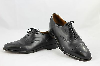 Gieves & Hawkes Black Leather Wing Tip Wingtip Shoes 9  Made in England  #S2