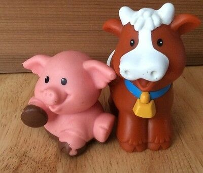 Fisher Price Plastic Cow and Pig
