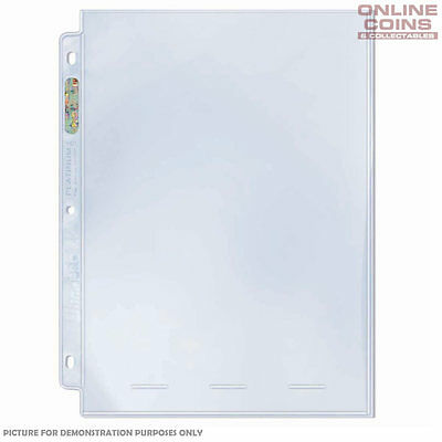 "Ultra Pro 1 Pocket 8"" x 10"" Platinum Series Banknote Photo Comic Pages X 100"