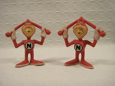 "Advertising ""The Noid"" Dominos Pizza Character Toy Figure Lot Of 2"