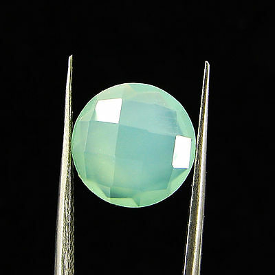 2.25 Ct Natural Beautiful Faceted Blue Chalcedony Loose Gemstone Stone  - R3400