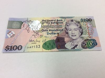 Bahamas 2009 P76 $100 Note Qeii Condition: Au #153 Best Prices On Ebay!