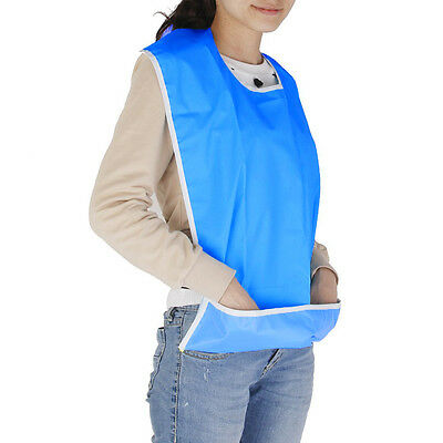 Waterproof Adult Mealtime Bib Clothes Clothing Protector Dining Cook Apron Blue