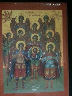 Eastern Orthodox Christian Icon Of The Synaxis Of The Holy Archangels
