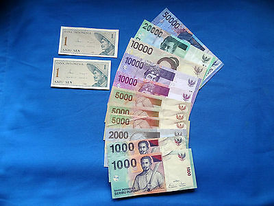 World Banknotes - Indonesia - 13 Banknotes in total