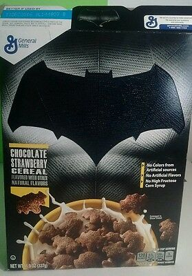 "collectible General Mills Batman Vers Superman ""The movie"" Cereal Box"