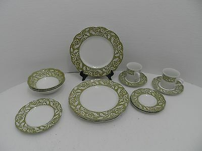 Vintage J & G Meakin England Staffordshire Sterling Dinnerware - Lot of 14- GC