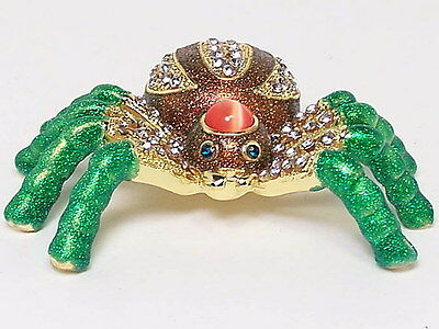 Spider Figurine Trinket Hinged Pill Box Collectable Ornament Decorative Gift New