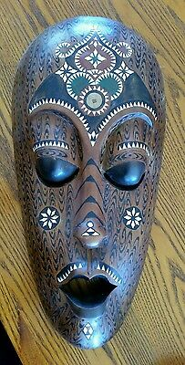 Carved Timber African Mask